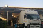 จัดส่งสินค้า....โดยใช้รถบรรทุก 10 ล้อห้องเย็นที่ได้รับการสนับสนุนจากกรมส่งเสริมสหกรณ์